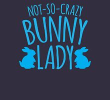NOT-SO-CRAZY Bunny Lady Womens Fitted T-Shirt