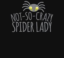 NOT-SO-CRAZY spider lady Womens Fitted T-Shirt