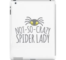 NOT-SO-CRAZY spider lady iPad Case/Skin