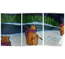 The Woods Are Lovely Triptych Poster