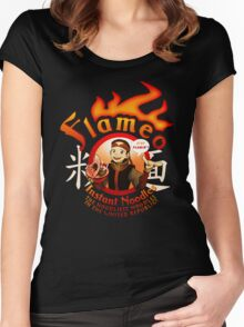 Flameo Instant Noodles! Women's Fitted Scoop T-Shirt