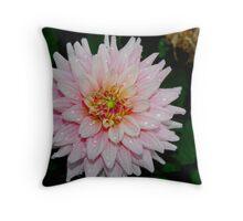 Wet Flower Throw Pillow