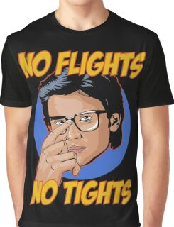 Official Tom Welling - No Flights, No Tights Tee Graphic T-Shirt