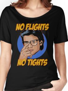 Official Tom Welling - No Flights, No Tights Tee Women's Relaxed Fit T-Shirt