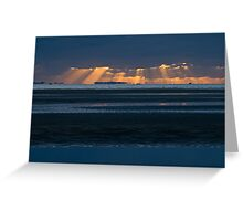 Nudgee Beach sunrise Greeting Card