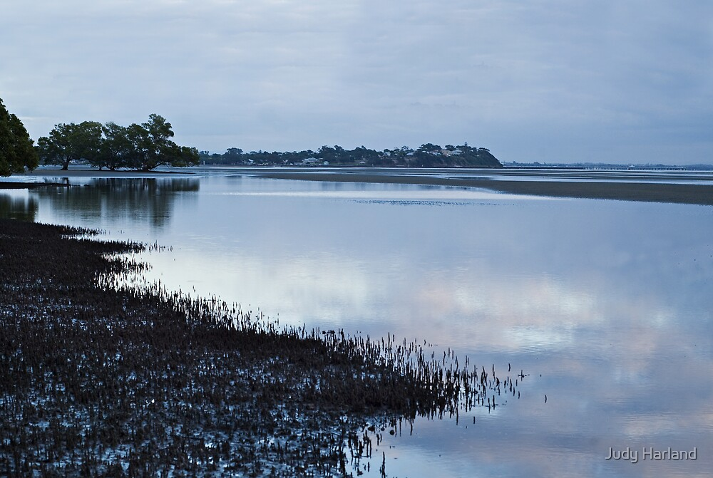 Nudgee Beach at dawn. by J Harland