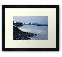 Nudgee Beach at dawn. Framed Print