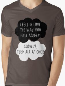 I Fell in Love the Way You Fall Asleep Mens V-Neck T-Shirt