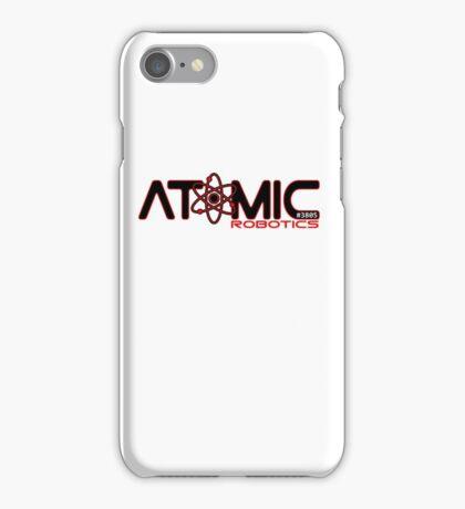 Atomic Robotics Logo Black on White iPhone Case/Skin
