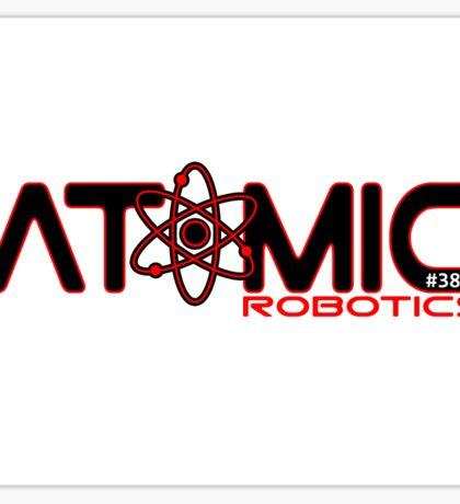 Atomic Robotics Logo Black on White Sticker