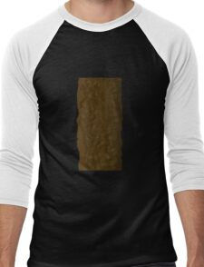 Glitch Groddle Land tree stack trunk Men's Baseball ¾ T-Shirt