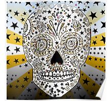 Hipster sugar art skull gifts psychedelic Poster