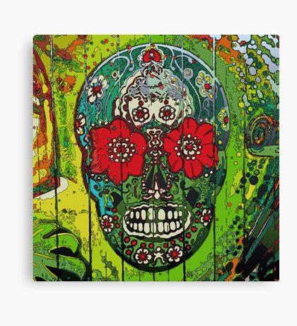 SugarArt Skull streetart graffiti Canvas Print