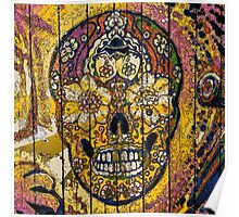 Day of dead sugar art skull graffiti gifts Poster