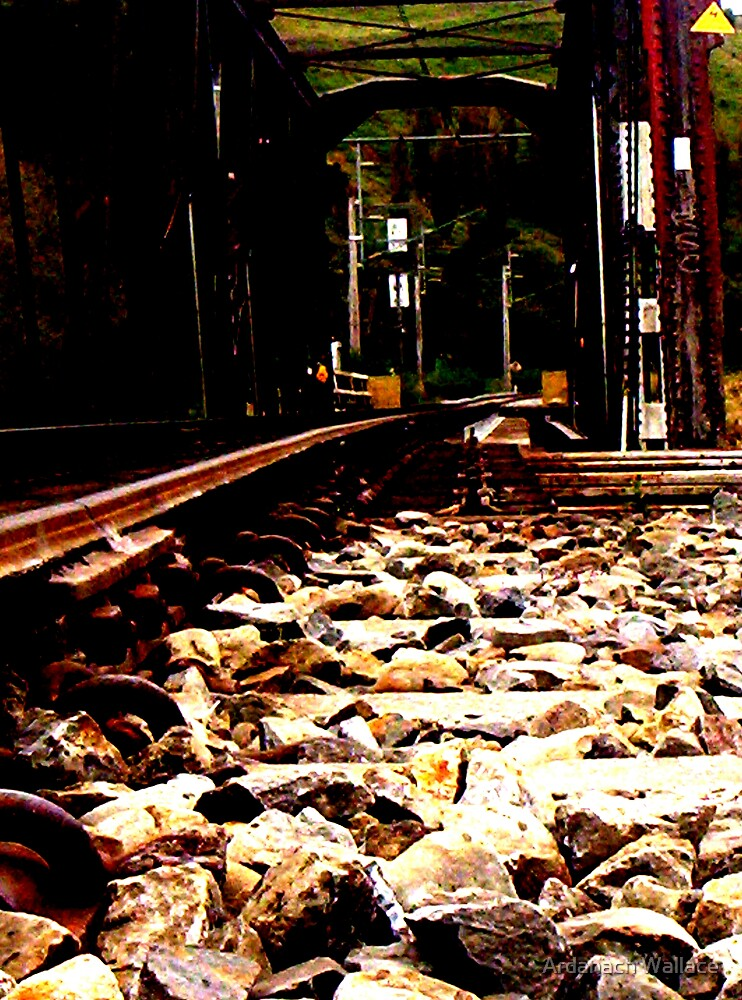 Railway deep in the heart of nowhere by Ardanach Wallace