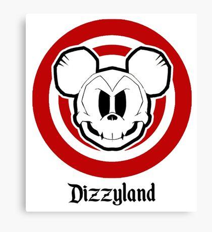 Dizzyland Mouse Skully Canvas Print