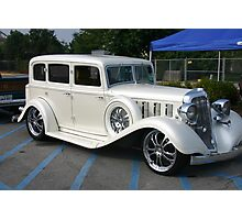 Pearl White Cadillac Photographic Print