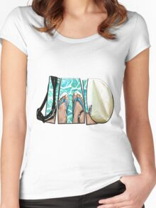 The Swimmer - White Women's Fitted Scoop T-Shirt