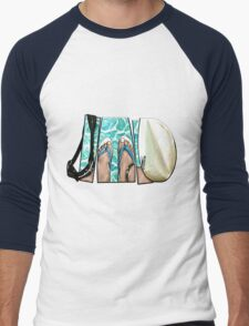 The Swimmer - White Men's Baseball ¾ T-Shirt