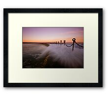 Newcastle Beach Childrens Pool 9 Framed Print