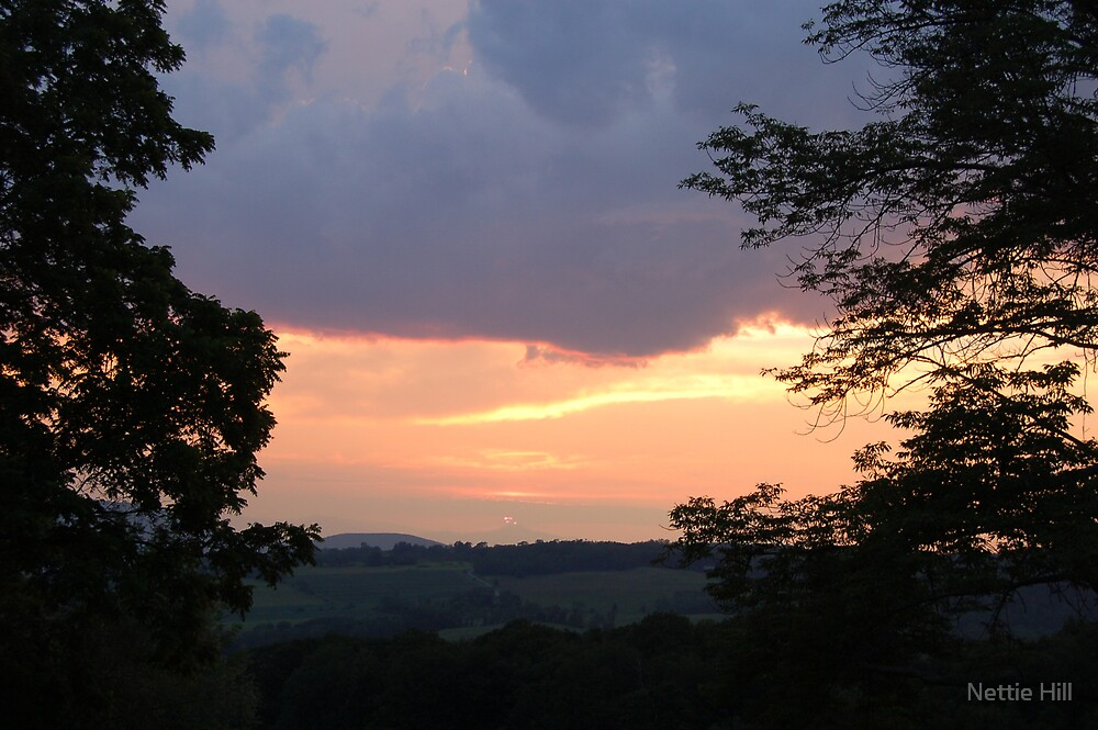Sunset over the Valley by Nettie Hill