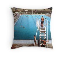 Mun. pool, Bourke, '68  Throw Pillow