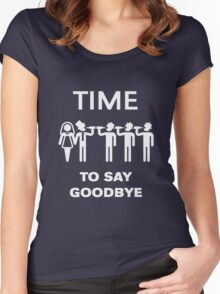 Time To Say Goodbye (Team Groom / Stag Party) White Women's Fitted Scoop T-Shirt