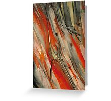 Snow Gum Bark Greeting Card