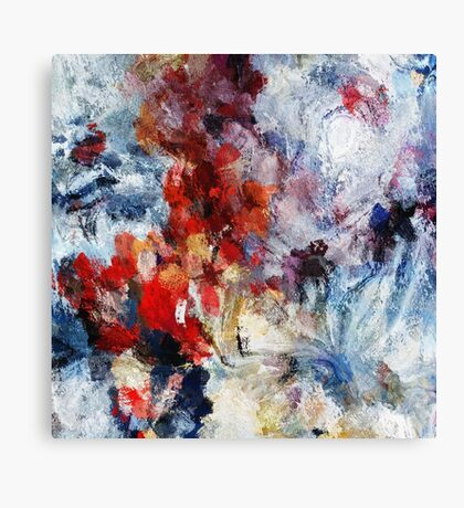 Modern Abstract Painting in Red / Orange Tones Canvas Print