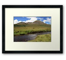 Three Peaks On Skye Framed Print