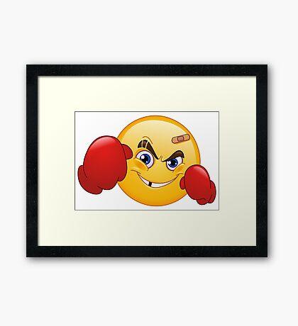 Boxer emoji Framed Print