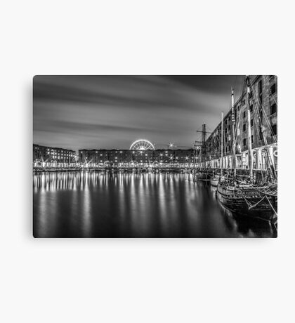 Albert Dock at night Canvas Print