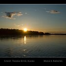 Sunset on the Tanana - Cool Stuff by Maria A. Barnowl
