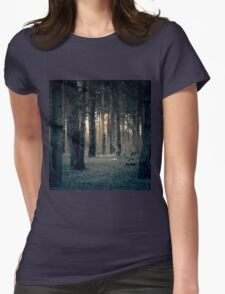Retro Pine Forest 14 Womens Fitted T-Shirt