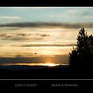 Gentle Sunset - Cool Stuff by Maria A. Barnowl