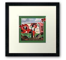 Retro camper trailer trash gifts Framed Print