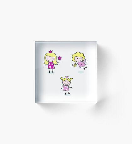 Cute princess hand drawn Kids collection Acrylic Block