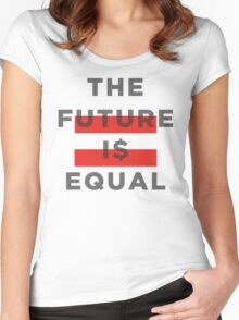 Official THE FUTURE I$ EQUAL Apparel by Hope Solo Women's Fitted Scoop T-Shirt