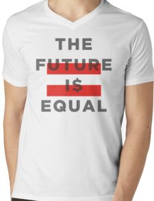 Official THE FUTURE I$ EQUAL Apparel by Hope Solo Mens V-Neck T-Shirt