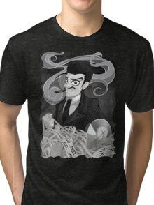 Gomez Addams- Black and White version Tri-blend T-Shirt
