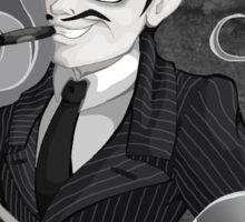 Gomez Addams- Black and White version Sticker