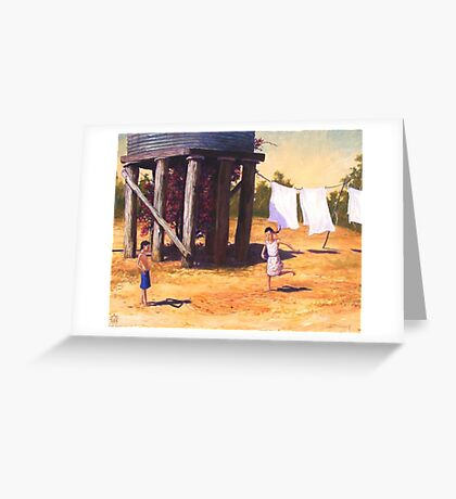 Water Tank Hopscotch Greeting Card