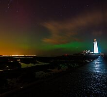 Northern Lights at St Marys by russellcram