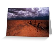 outback gate - NSW Greeting Card