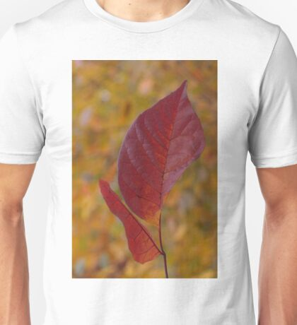 The Warm Glow of Fall - a Vertical View Unisex T-Shirt