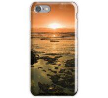 Beautiful seascape in dramatic sunset iPhone Case/Skin