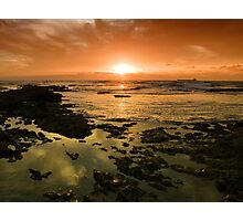Beautiful seascape in dramatic sunset Photographic Print