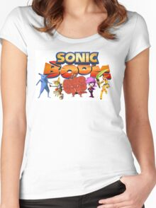Sonic Boom Parody T-Shirt Women's Fitted Scoop T-Shirt