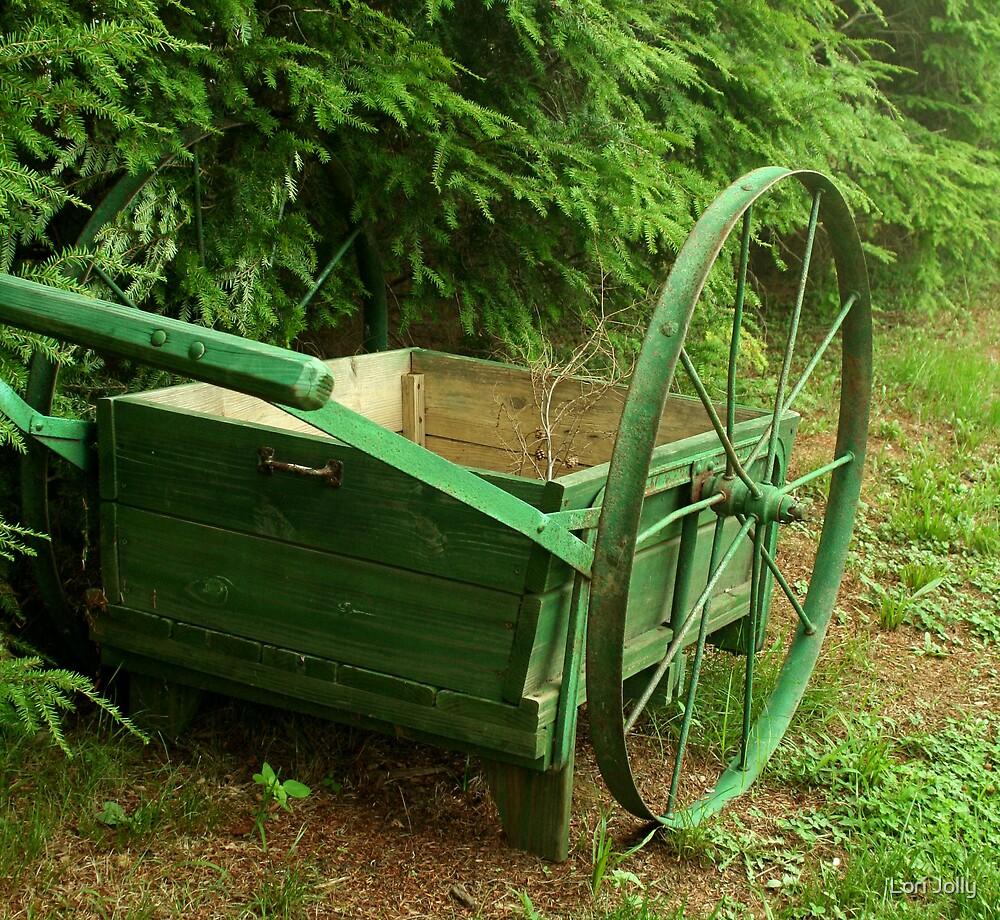 Antique Wheelbarrow by Lori Jolly