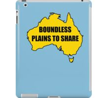 Boundless Plains to Share iPad Case/Skin